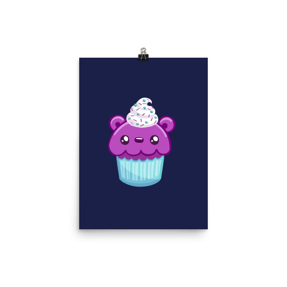 cute bear shaped frosted cupcake aka cub-cake