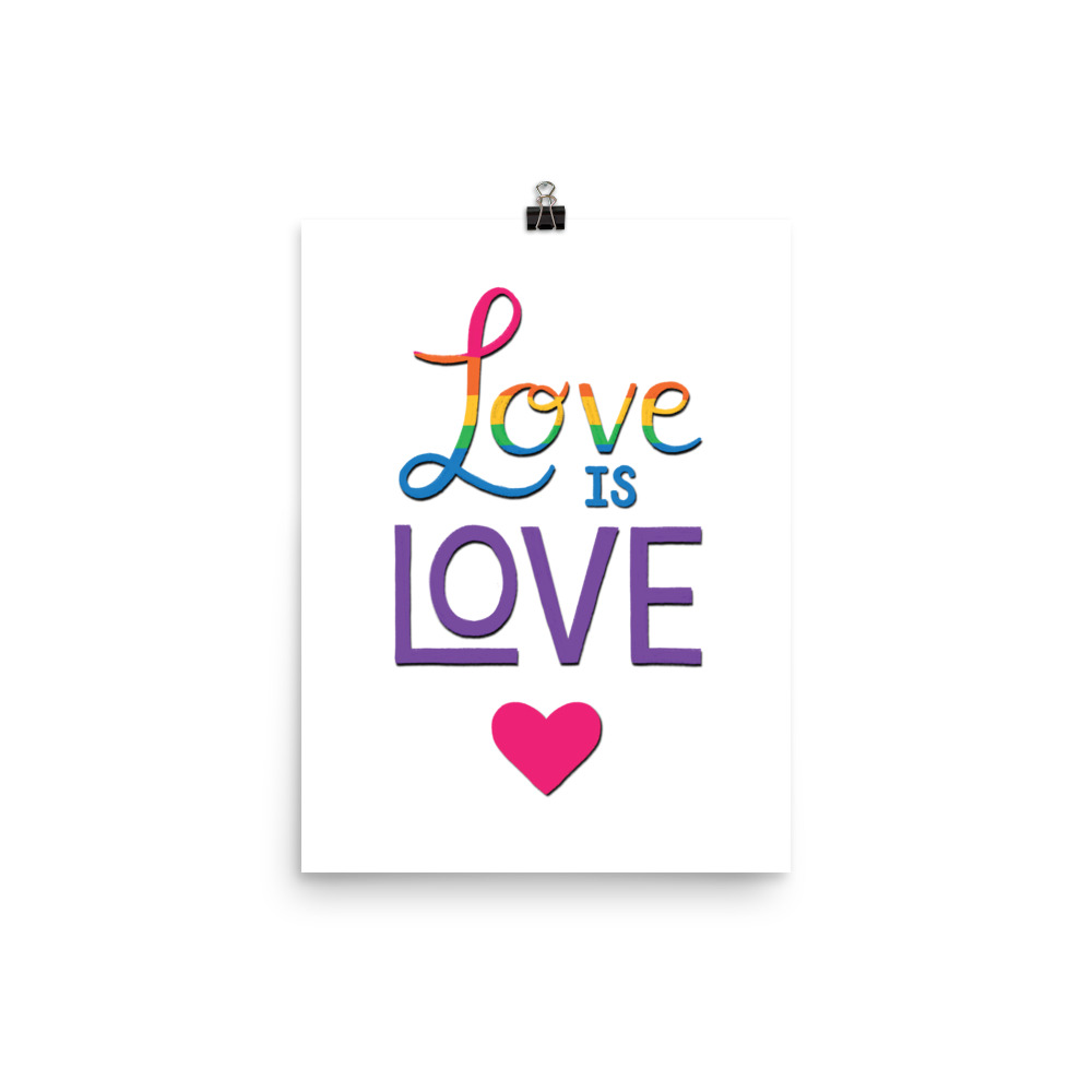 love is love lgbt poster